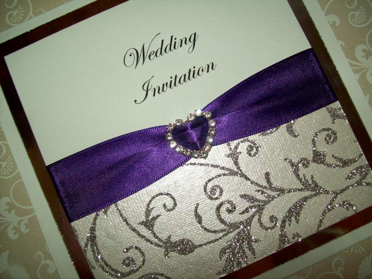 Beautiful handcrafted, personaised wedding invitation from our Elegance Collection