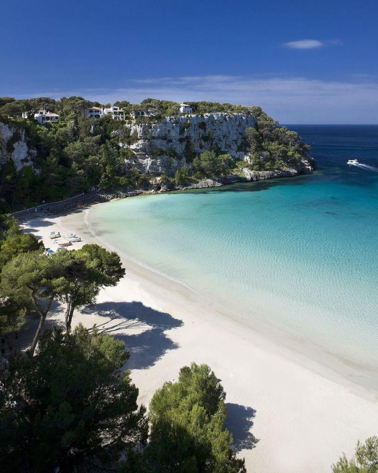 Beautiful blue sky and white sands. Cala Galdana Menorca, Photograph Getty Images