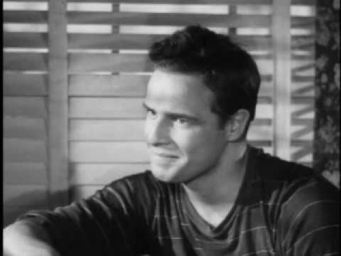 marlon brando - screentest for rebel without a cause - so many emotions in 3 minutes...the man was amazing, favorite is the interview at the end and how he's trying so hard to keep a straight face :) <3