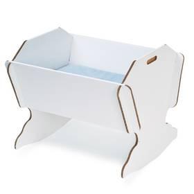 cardboard crib...