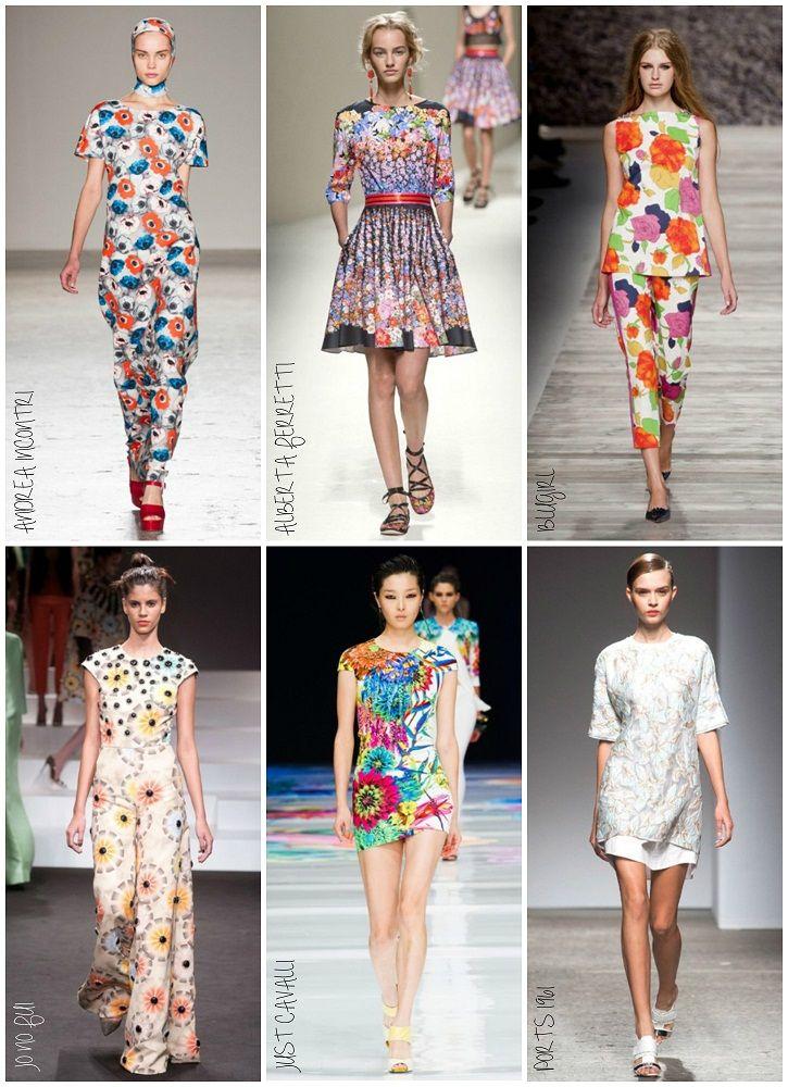 Milan Fashion Week Spring 2014 Day 2: Flower Power