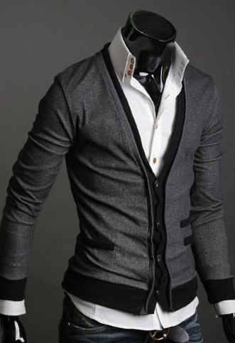 Accented Double Pocket Cardigan