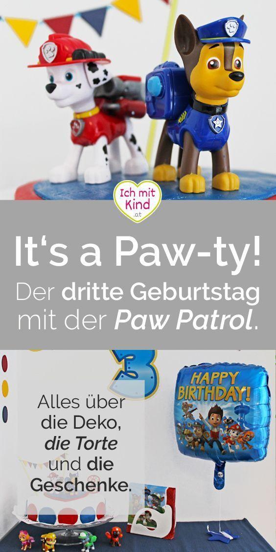It S A Paw Ty Der Dritte Geburtstag Mit Der Paw Patrol