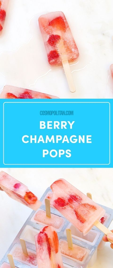 Strawberry Champagne Pops Are the Best Way to Cool Down and Drink Up