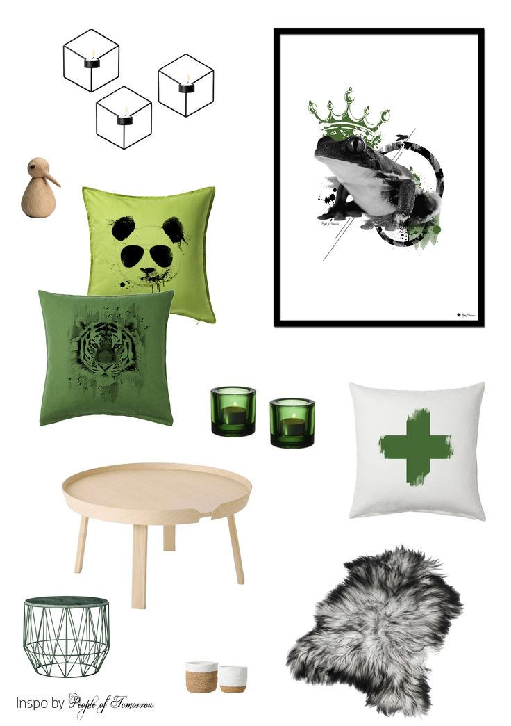 M O O D B O A R D // green on green / Btw: a sneak peek on our upcoming pillow collection!