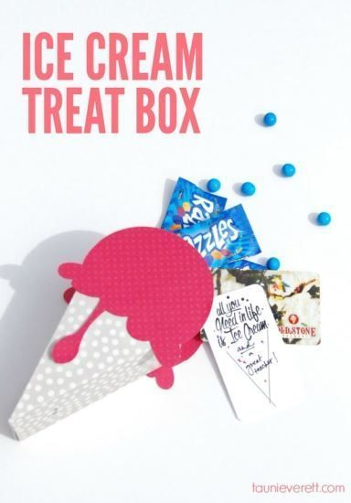 DIY Ice Cream Treat Box - perfect for gifts!