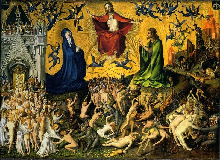 Stefan Lochner, The Last Judgment, c. 1435 (Cologne). Oil and gold on oak panel. Wallraf-Richartz-Museum, Cologne