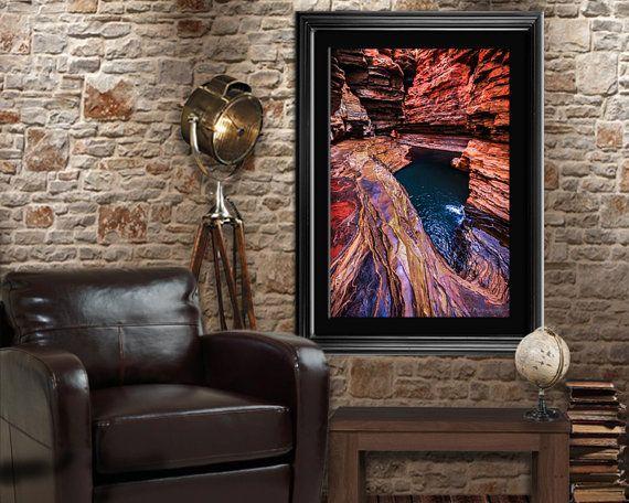 Karijini Pools Photography Print for wall decor by NadbradDesigns