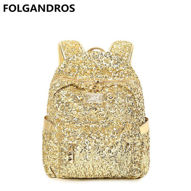 Cheap women leather backpack, Buy Quality gold backpack directly from China brand leather backpack Suppliers: 2018 Brand Gold Backpack Women's Leather Backpacks for Teenage Girls Casual Fashion Women Bookbag Ladies Bolsa Mochila Feminina