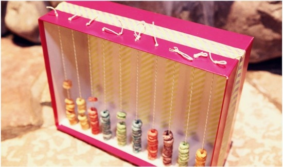 Fruit loop abacus and other fun ideas.