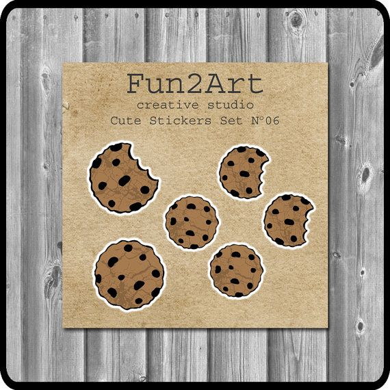 Cute Stickers/ Planner Stickers/ Chocolate Chip Cookies by Fun2Art