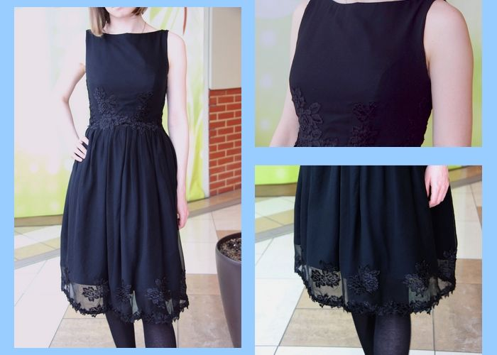 dress, black dress, how to sew black dress - Kocham Szycie -