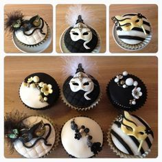 cupcake drama mask fondant - Google Search
