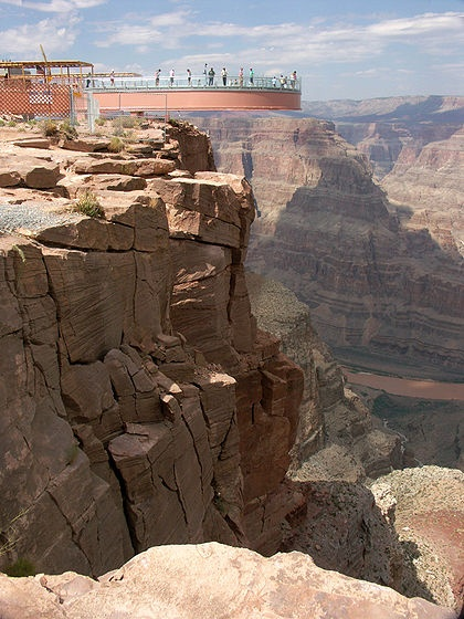 Grand Canyon Skywalk. A must when visiting AZ, the view is breathtaking!