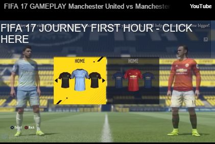FIFA 17 GAMEPLAY Manchester United vs Manchester City [1080p HD 60FPS] FIFA 17 DEMO MANCHESTER DERBY