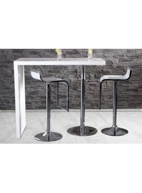 duo design bar table white high gloss kitchen breakfast bar wwwneofurncouk white bar and lounges pinterest bar tables breakfast bars and high - Kitchen Bar Table