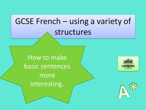 french gcse essay Assessment resources there are past papers with questions in the target language on e-aqa thinking of teaching gcse french with us.