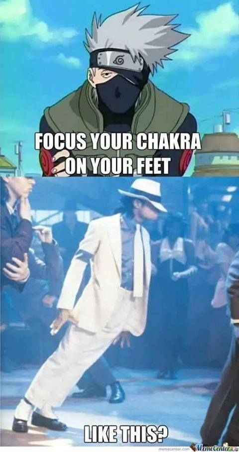 Michael Jackson , the master of chakra ^^  Now that's how you focus chakra on your feet.