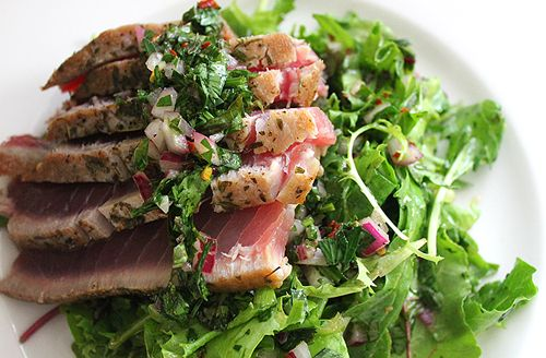 Seared Scallops With Chimichurri Dressing Recipes — Dishmaps
