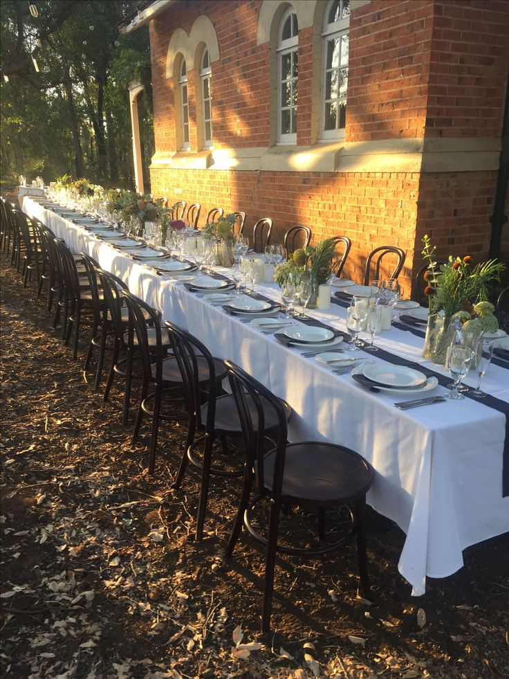 Long table I helped style Donnybrook Western Australia. Outdoors 😍