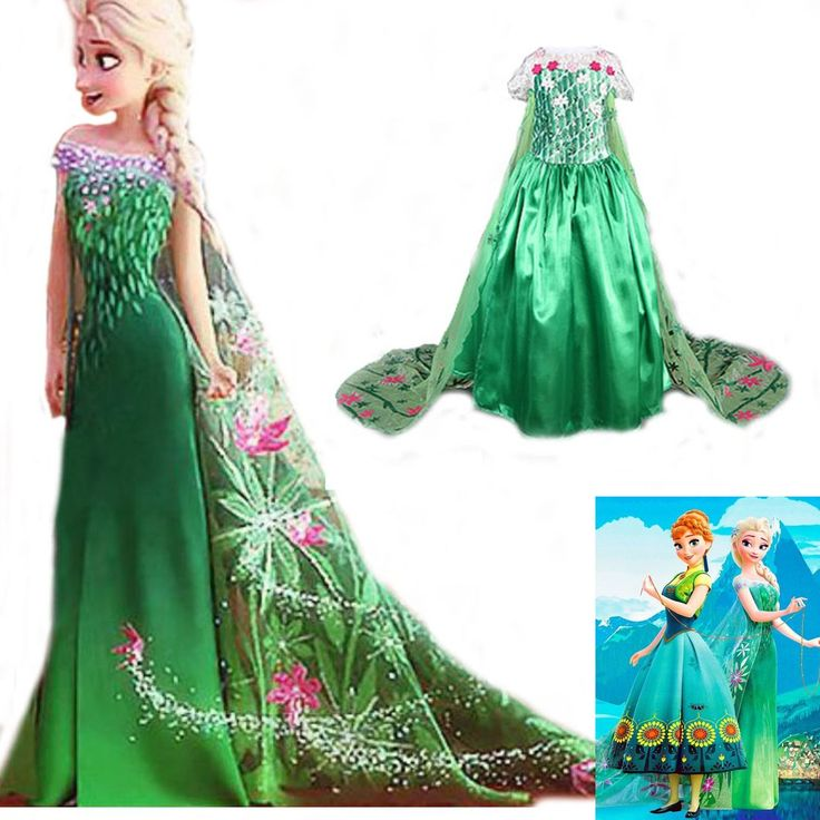 Frozen - Elsa Green Dress. Including taxes and delivery. Learn more at https://myscreenaddiction.com