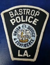 BASTROP, LOUISIANA POLICE SHOULDER PATCH