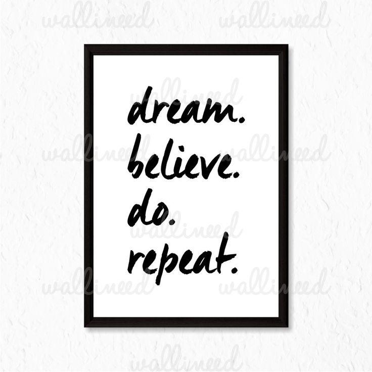 Dream Believe Do Repeat Quote Canvas Print