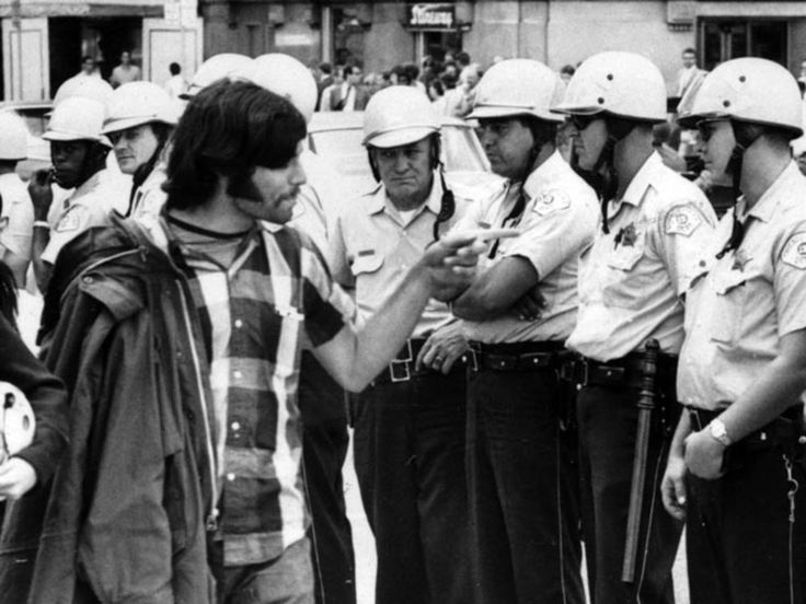 """The 1968 Chicago Riots!  August 28, 1968 came to be known as the day a """"police riot"""" took place during the Democratic Party Convention."""