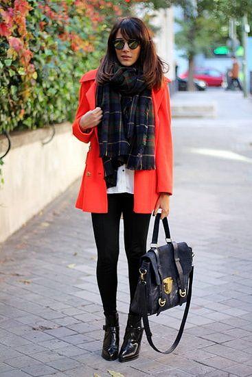 bright jacket with basics