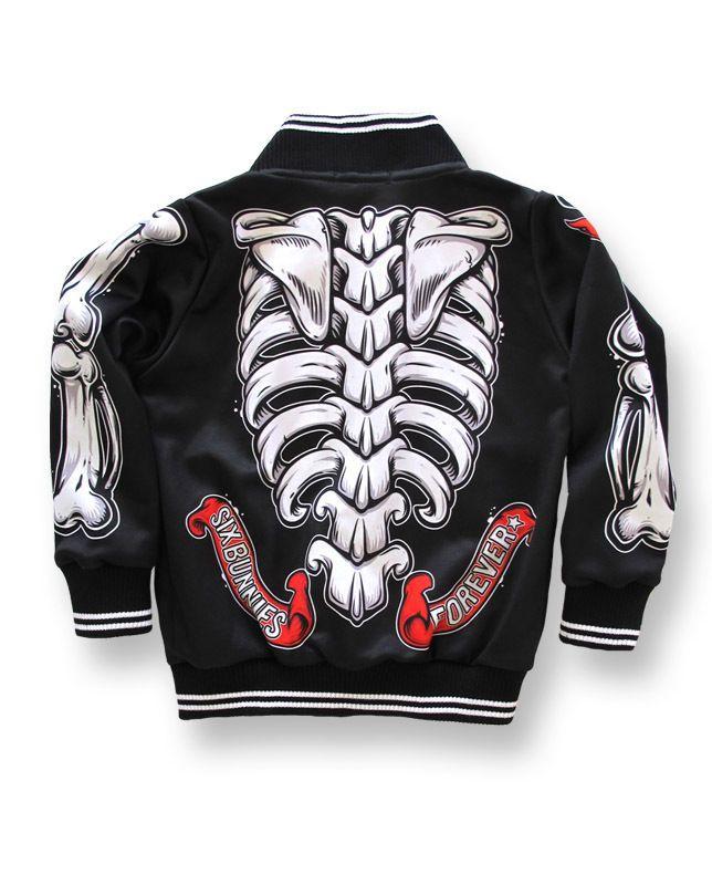 Six Bunnies Kids Jacke/Jacket Skeleton Tattoo,Oldschool,Biker,Custom Styles