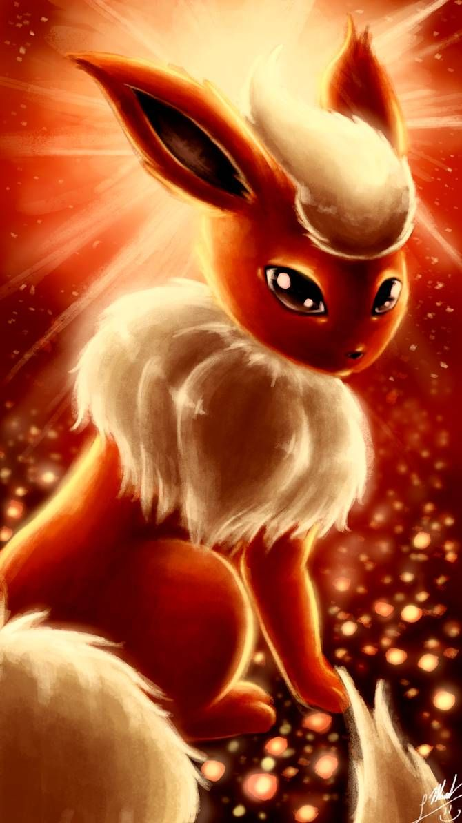 Flareon By Shupamikey Cool Pokemon Wallpapers Cute Pokemon Wallpaper Cute Pokemon Pictures