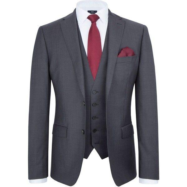Paul Costelloe Richmond Wool Tonic Suit Jacket (168,500 KRW) ❤ liked on Polyvore featuring men's fashion, men's clothing, men's outerwear, men's jackets, mens wool outerwear, mens zip jacket, mens wool jacket and mens wool zip jacket