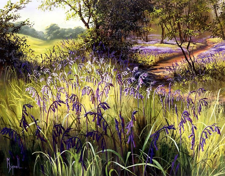 mary dipnall art | Mary Dipnall - Bluebell Time