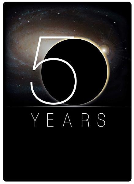 "NASA 50th Anniversary logo. Emmy, you are officially allowed to say ""SQUEEEEEE!"""