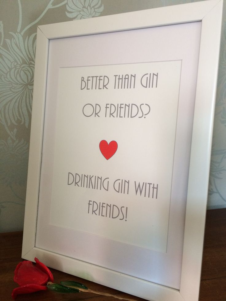 gin and friends print