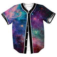 3D Beyzbol Mayo Galaxy Baskılı Beyzbol Gömlek Gündelik Slim Fit tişörtlü Erkek/Kadın Harajuku Hip Hop Tee Gömlek Homme Mens Tshirt(China)