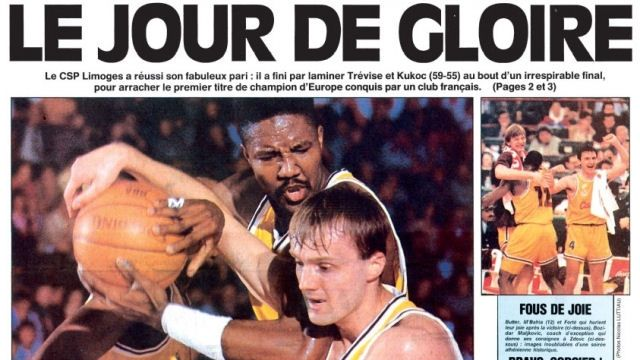 28 best images about limoges csp champion d europe on - Coupe d europe des clubs champions 1993 ...