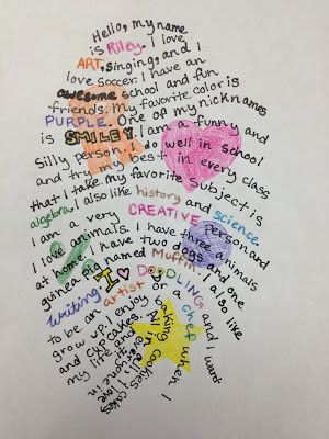 Thumbprint Self-Portrait | TeachKidsArt