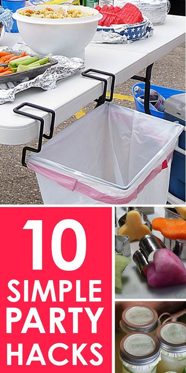 Love these simple Party Hacks! Whether you host a lot of parties, or just want to invite a few friends over for appetizers and drinks, make your party memorable with these simple hacks! These fun party ideas can be used when camping, a picnic at the park, tailgating or in your own backyard.