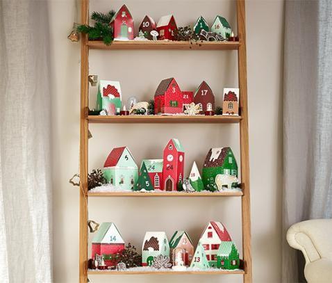 Karácsonyi falu adventi naptár 333158 a Tchibo-nál. 4695