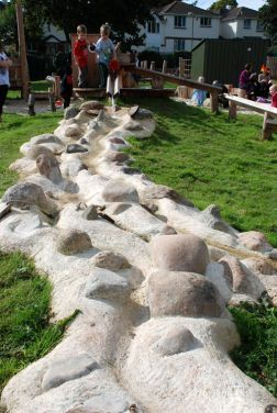 concrete water channels (designed by EarthWrights--their company has created inspiring designs from nature for children's playgrounds, allowing children to be children and use their imaginations--awesome!)