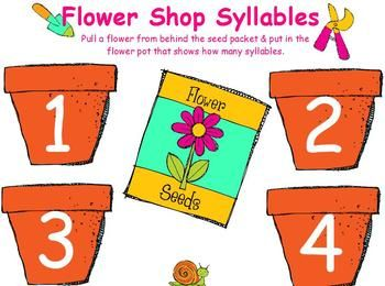 ~FREE~ Flower Shop Syllables for ActivBoard