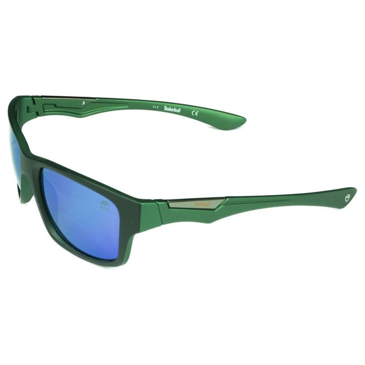 Timberland Fashion Mens /Dark Green Mirrored Polarized Grey Lens Sunglasses