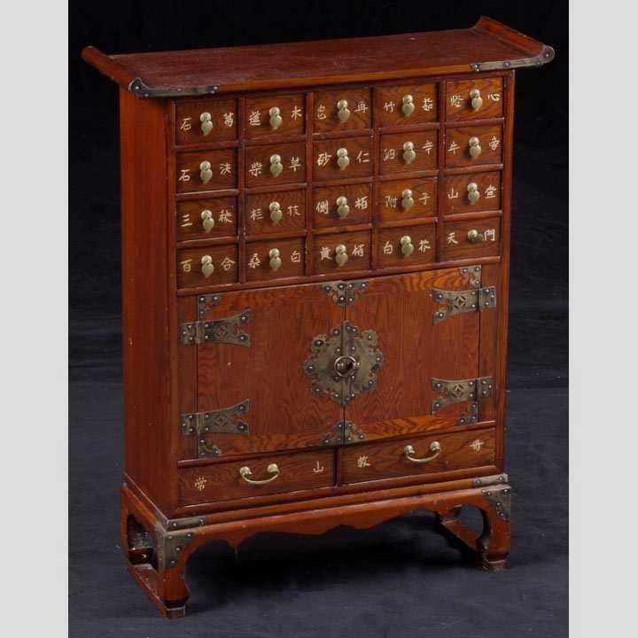 Korean Medicine Cabinet   Antique Apothecary& Medicine ...