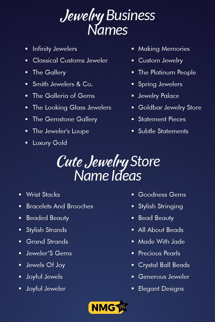 Cute Unique Jewelry Names List Name Generator Pro Shop Name Ideas Store Names Ideas Jewelry Stores