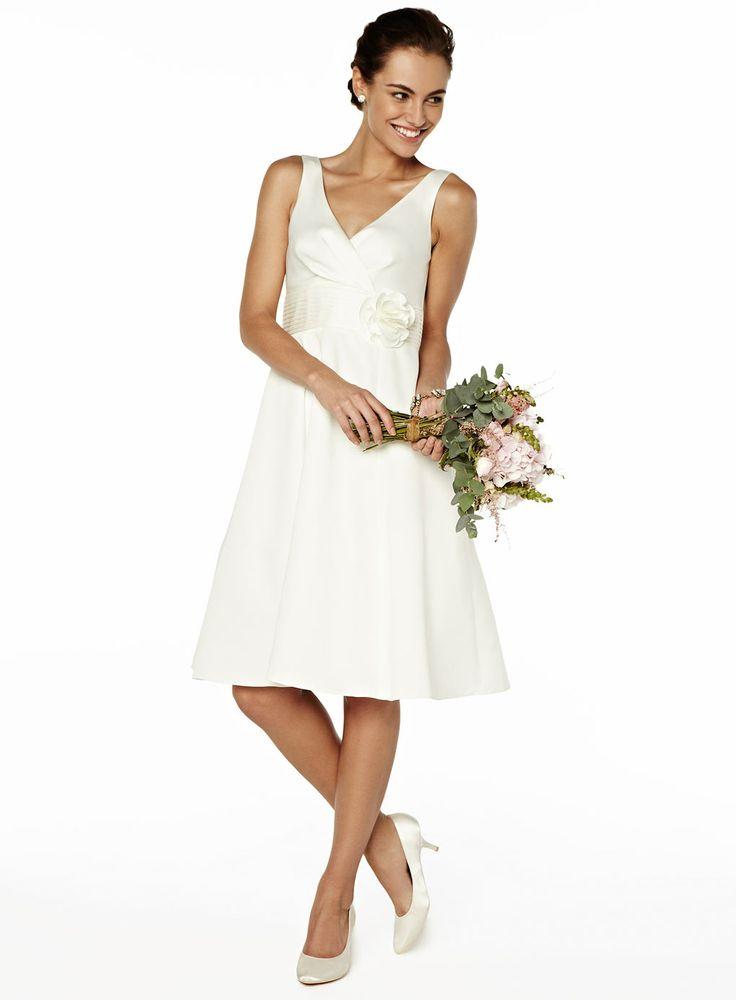 Rose Short Bridal Dress http://www.weddingheart.co.uk/bhs-wedding-dresses.html