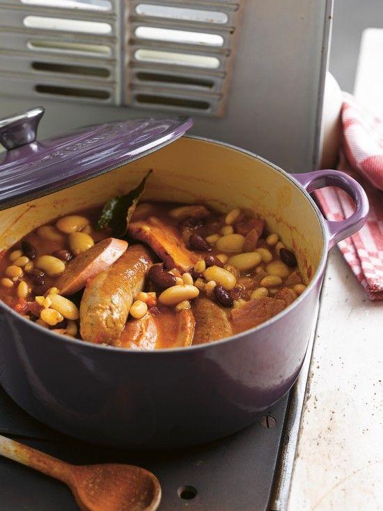 Recette de cassoulet cuit en cocotte.