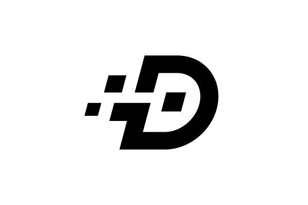 Digital Letter D Logo Design Computer Logo Logo Design Typographic Logo