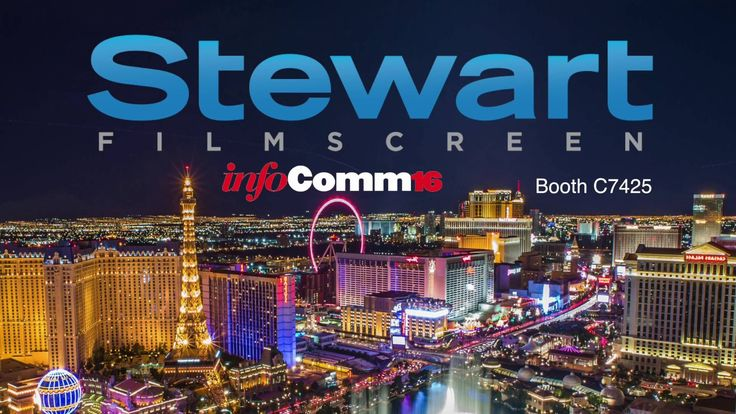 Stewart Filmscreen's Next Generation Projection Screens at InfoComm16