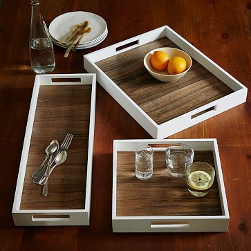 Throughout home - need to add trays in several places to create a bit of contained interest. West Elm.